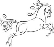 hästrunning Royaltyfri Fotografi