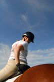 hästryggkvinna Royaltyfri Foto