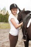 Hästryttare och häst Arkivbilder