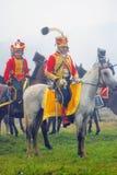 Hästryttare på Borodino Arkivbilder