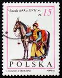Hästryttare, riddare, XVII århundrade, circa 1983 Arkivbild