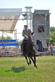 Hästryttarekonkurrens Royaltyfri Bild