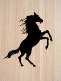 hästsilhouettevektor royaltyfri illustrationer