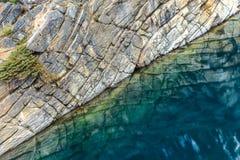 Hästsko sjö i Jasper National Park Royaltyfri Bild