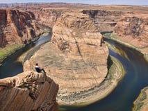 Hästskokrökning Grand Canyon Royaltyfria Foton