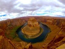 Hästskokrökningsida Arizona Arkivfoton