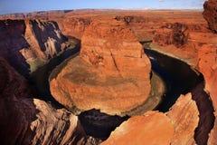 hästskon för glenen för den arizona böjningskanjonen förbiser royaltyfria bilder