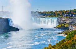 Hästskonedgång, Niagara Falls Arkivbild