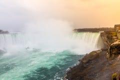 Hästskonedgångar, Niagara Falls, Niagara Arkivfoton
