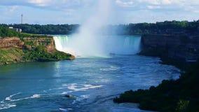 Hästskonedgångar, Niagara Falls, Ontario, Kanada arkivfilmer