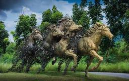 Hästskulptur Arkivfoto