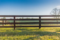 Häststaket Across Field arkivbilder