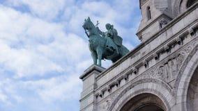 """Häststaty av Basilique du sacré cÅ""""ur de Montmartre Royaltyfria Foton"""