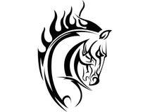hästtatuering royaltyfri illustrationer