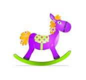 hästvaggande toyviolet Royaltyfri Bild
