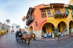 Hästvagn i Cartagena arkivbilder