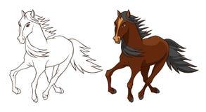 Hästvektorillustration stock illustrationer