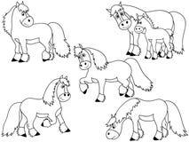 Hästvektoruppsättning Fotografering för Bildbyråer