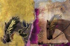 hästwhite royaltyfri illustrationer