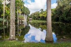 Hättahuset arbeta i trädgården, Ft Lauderdale, Florida Royaltyfri Bild