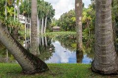 Hättahuset arbeta i trädgården, Ft Lauderdale, Florida Fotografering för Bildbyråer