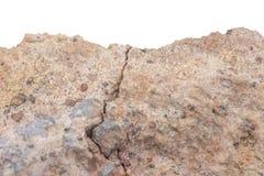 Häufen Sie Boden oder Schmutz mit altem Zement von lokalisierter contruction Straße an stockfoto