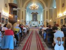 Häufen Sie für Pilger in der katholischen Kirche St Jerome in Herceg Novi an Stockbilder