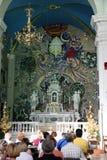 Häufen Sie für Pilger im Kirchen-Heiligen Eustache in Dobrota, Montenegro an Lizenzfreie Stockfotografie