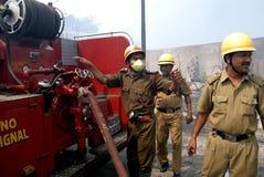Häufiges Feuer in Elendsvierteln von Kolkata Lizenzfreies Stockfoto