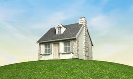 Häuschen auf einem Hügel Stockfotografie