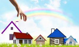 Häuschen auf Ihrer Nachfrage! Stockbilder