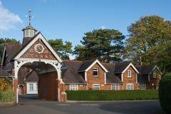 Häuschen an Bletchley-Park, Buckinghamshire, England Stockfoto