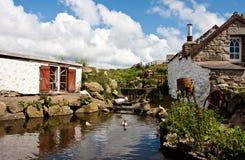 Häuschen in Cornwall Lizenzfreies Stockfoto