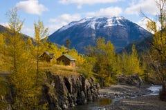 Häuschen in den Bergen Stockfotografie