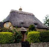 Häuschen-England-Haus Lizenzfreies Stockbild