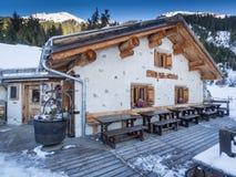 Häuschen Garfiun in Klosters Lizenzfreie Stockbilder