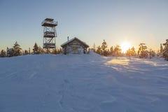Häuschen im Winter Stockbild