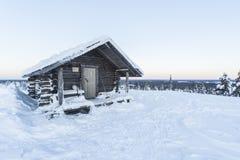 Häuschen im Winter Lizenzfreies Stockbild