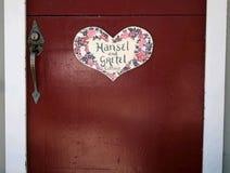Häuschen-Tür Stockbild