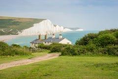 Häuschen u. 7 sieben Schwestern, Brighton, England Stockfoto