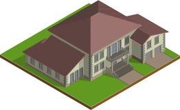 Häuschen, Zustand isometrisch Stockfoto