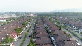 Häuschendorf aerial Khao Lak thailand stock footage