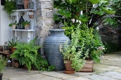 Häuschengartenpflanzer Lizenzfreies Stockbild