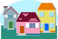 Häuser Stockbild
