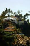 Häuser Acapulco-Cliffside Lizenzfreies Stockfoto