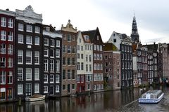 Häuser in Amsterdam Stockbilder
