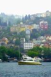 Häuser auf Bosphorus-Hügelseite Lizenzfreies Stockbild
