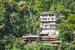 Häuser auf dem Berg Lizenzfreies Stockfoto