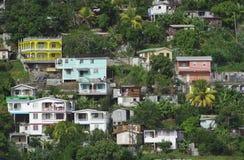 Häuser auf dem Hügel Stockfotografie