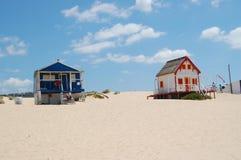 Häuser auf dem Strand Lizenzfreie Stockbilder